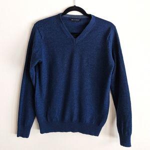 Britches   men's navy merino wool blend sweater